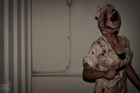 Bubble Head Nurse from Silent Hill 2 worn by jSpud