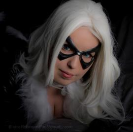 Black Cat from Marvel Comics worn by Kitteh Cosplay