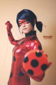 Ladybug from Miraculous Ladybug worn by Shinigami Clover