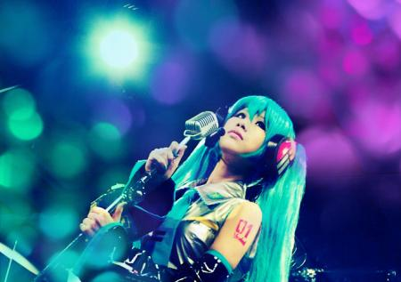 Hatsune Miku from Vocaloid 2 worn by Wallaby