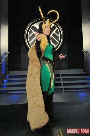Loki from Marvel Comics worn by Tenacious Bee