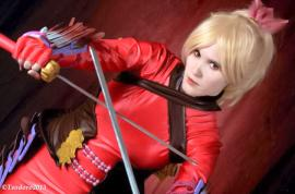Natsu from Soul Calibur 5 worn by DarkFairy Cosplay