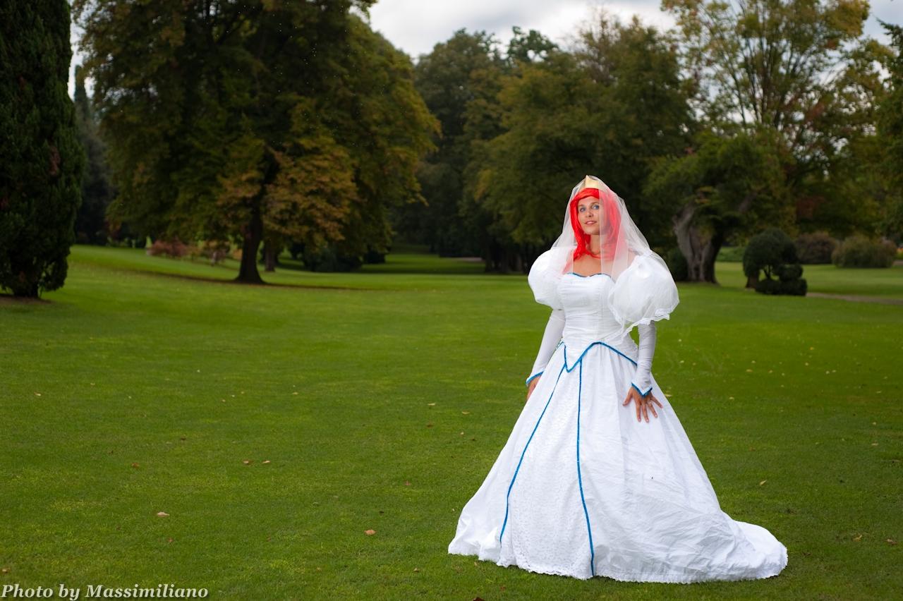 Ariel from disney princesses by darkfairy cosplay for Disney mermaid wedding dress