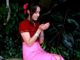 Aeris / Aerith Gainsborough from Final Fantasy VII: Advent Children worn by Beloved Zee