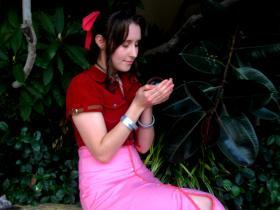 Aeris / Aerith Gainsborough from Final Fantasy VII: Advent Children worn by MINZee Rose