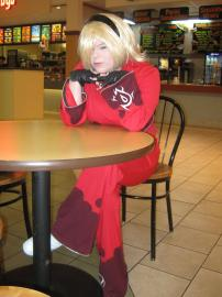 Ash Crimson from King of Fighters XIII worn by Magdelynne