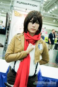 Mikasa Ackerman from Attack on Titan worn by Anna Mae