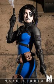 Domino from Marvel Comics by kris lee