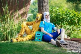 Finn from Adventure Time with Finn & Jake worn by Warpath