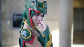 Rayquaza from Pokemon worn by KO Cosplay