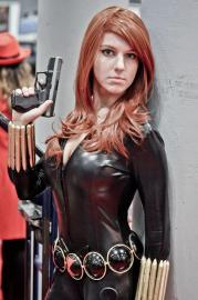 Black Widow from Marvel Comics worn by KO Cosplay