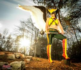 Hawkgirl from DC Comics worn by Kira Kouture