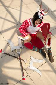 Akali from League of Legends by Fushicho