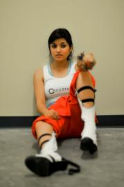 Chell from Portal 2 worn by Fushicho