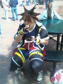 Sora from Kingdom Hearts 2 worn by Cal (Cally) Hale