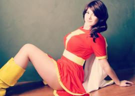 Mary Marvel from DC Comics worn by Alouette