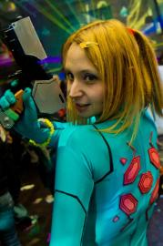 Samus Aran from Metroid worn by Zadra