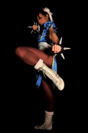 Chun Li from Street Fighter II worn by Chun-Li