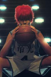 Akashi Seijuro from Kuroko's Basketball worn by Lauren Hibs