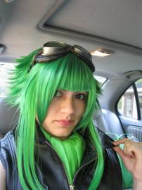 Gumi from Vocaloid 2 worn by Lauren Hibs
