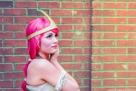 Princess Bubblegum from Adventure Time with Finn & Jake worn by Lauren Hibs