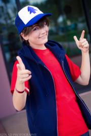 Dipper Pines from Gravity Falls worn by Lauren Hibs