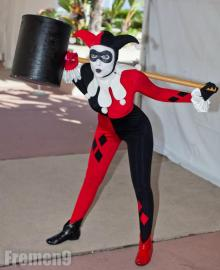 Harley Quinn / Dr. Harleen Francis Quinzel  	 from Batman worn by Rachel Flowers