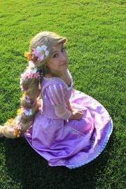 Rapunzel from Tangled worn by Aelynn