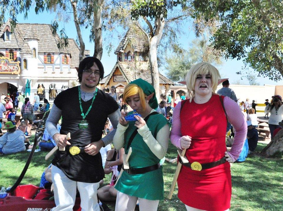 Link Four Swords Cosplay of Zelda Four Swords