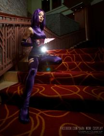 Psylocke from X-Men worn by Sara Moni