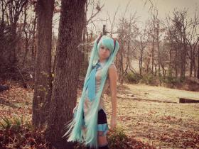 Hatsune Miku from Vocaloid 2 worn by BreAnna Barfield