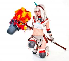 Kirin armor from Monster Hunter: Freedom Unite worn by Remie
