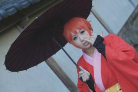Kagura from Gintama  by zeppelly