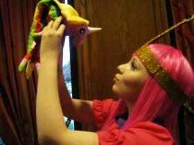 Princess Bubblegum from Adventure Time with Finn and Jake worn by Becca Consuelo