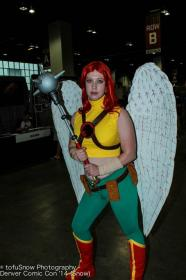 Hawkgirl from DC Comics worn by Rae Gunn