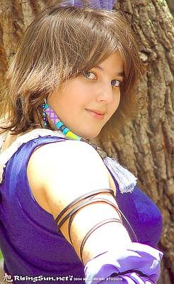 Yuna from Final Fantasy X-2 worn by Yuffie Leonheart
