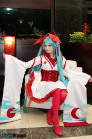 Hatsune Miku from Vocaloid 2 worn by Pixie Kitty