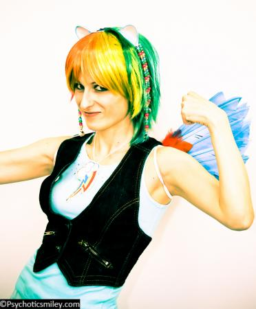 Rainbow Dash from My Little Pony Friendship is Magic worn by Pixie Kitty