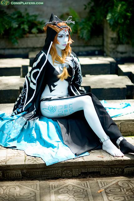 Unisex The Legend Of Zelda Twilight Princess Midna Bodysuit Cosplay Costume Oo