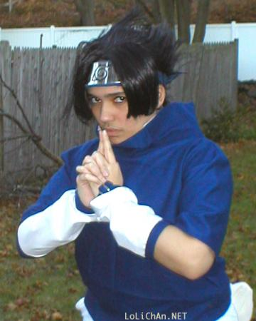 Sasuke Uchiha from Naruto worn by Adrienne Orpheus