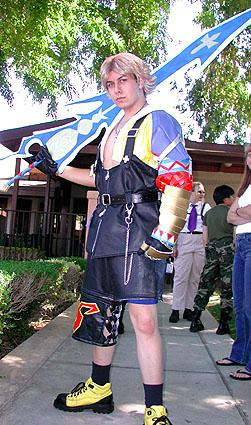 Tidus from Final Fantasy X worn by DK Squall