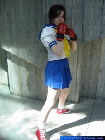 Sakura Kasugano from Street Fighter Alpha worn by Lizzie