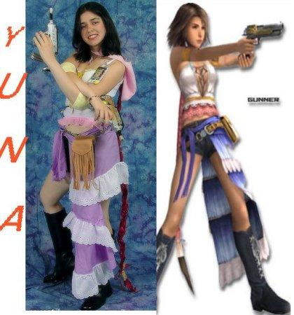 Yuna from Final Fantasy X-2 worn by Aleera