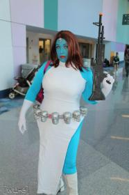 Mystique from X-Men worn by Goblin Girl