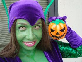 Green Goblin from Spider-man worn by Goblin Girl