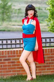 Phantom Lady from DC Comics worn by Lilacwire