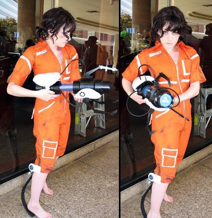 Chell from Portal worn by Sillywhims