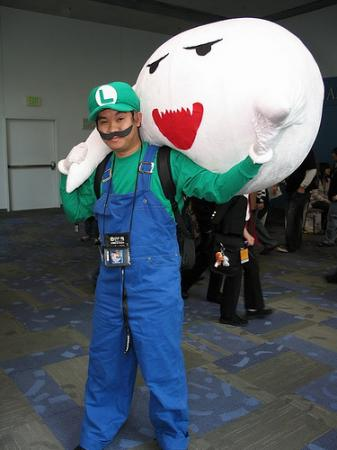 Luigi from Mario Bros worn by Usagi Auron