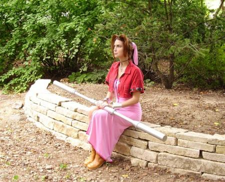 Aeris / Aerith Gainsborough from Final Fantasy VII: Advent Children worn by Cosplay Kitten