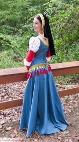 1490s French Dress from Original:  Historical / Renaissance worn by Fire Lily